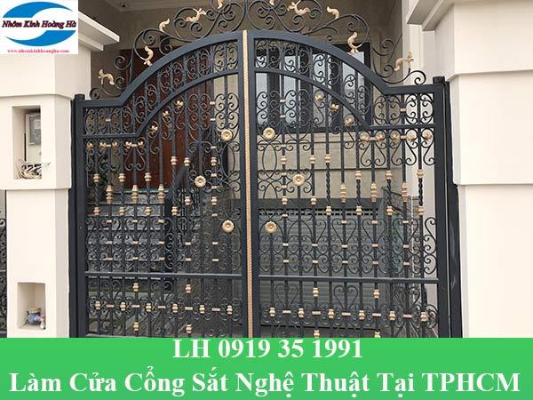 Làm cửa cổng sắt nghệ thuật tại TPHCM chuyên nghiệp